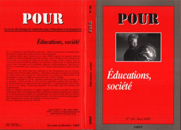 Revue.Pour.N°165.Educations, Société